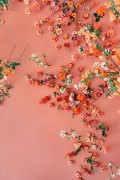 In Living Coral - WedLuxe Magazine Coral Color, Peach Colors, Coral Pink, Coral Wallpaper, Iphone Wallpaper, Rosa Coral, Monochromatic Color Scheme, Purple Trees, Live Coral