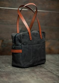 Love the black with mahogany - replace leather with canvas or faux leather!