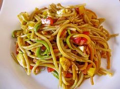 Asiatischer Nudelsalat Asian Pasta Salad (recipe with picture) by Asian Pasta Salads, Best Pasta Salad, Pasta Salad Italian, Indian Food Recipes, Asian Recipes, Indian Snacks, Chef Salad Recipes, Fruit Recipes, Chicken Recipes