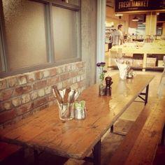 cafe interior-raw brick work