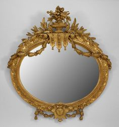 French Louis XVI mirror wall mirror gilt