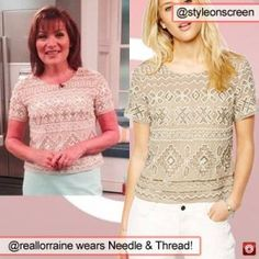 f55efefb Where did Lorraine Kelly get her beige embellished top from on ITV Lorraine  12/06