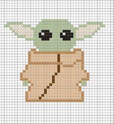 Baby Yoda Cross Stitch - Made by Caitlin Cross Stitching, Cross Stitch Embroidery, Embroidery Patterns, Hand Embroidery, Mini Cross Stitch, Simple Cross Stitch, Kawaii Cross Stitch, Cross Stitch Animals, Disney Cross Stitch Patterns
