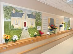The Interactive flower mural. This one is 18 feet in length, but it can be adapted to suit most spaces. Now available reproduction! For more info visit our new website: www.creativeartco.com
