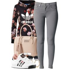 A fashion look from June 2014 featuring adidas Originals hoodies, Nico jeans and adidas Originals sneakers. Browse and shop related looks.