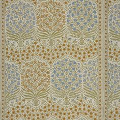Exceptional sapphire/gold ethnic decorator fabric by Lee Jofa. Item 2017108.540.0. Save on Lee Jofa products. Free shipping! Only 1st Quality. Find thousands of patterns. Width 54 inches. Sold by the yard. Tapestry Fabric, Drapery Fabric, Fabric Decor, Fabric Design, Curtains, Gold Fabric, Floral Fabric, Blue Fabric, Cotton Fabric
