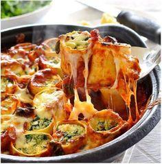 Rotolo di lasagne con spinaci e ricotta