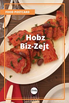 """The Maltese enjoy their meals. While Hobz Biz-Zejt actually translates to """"bread with oil"""" it is anything but so simple. Covered with a sweet tomato puree – kunserva – and then topped with olive oil and other ingredients such as black pepper, garlic, olives, capers, or even tuna or anchovies – depending on the preparer."""