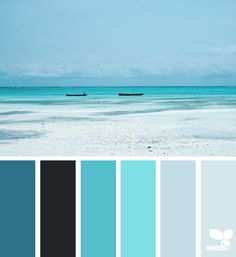 today's inspiration image for { color sea } is by . thank you, Sara, for another breathtaking image share! Color Palette For Home, Blue Colour Palette, Colour Schemes, Color Combos, Sea Colour, Beach Color, Blue Colour Images, Design Seeds, Colour Board