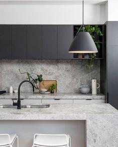Cheap Home Decor .Cheap Home Decor Stone Kitchen, New Kitchen, Kitchen Dining, Kitchen Decor, Stone Benchtop Kitchen, Kitchen Soffit, Kitchen Ideas, Quirky Home Decor, Cheap Home Decor