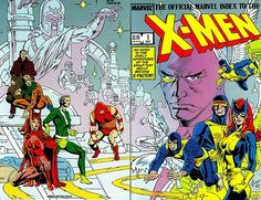 The Official Marvel Index To The X-Men #1 wraparound cover by Sandy Plunkett & P. Craig Russell