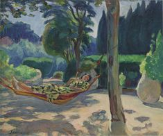 'Young woman on a hammock', Oil On Canvas by Henri Lebasque (1865-1937, France)