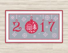 New Year Cross Stitch Pattern snowflakes by TimeForStitch on Etsy