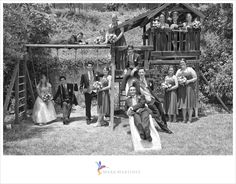 Fun, cute, and creative bridal party portrait on playground equipment. One of my favorites :)    See more at www.markmartinezphotography.com and like us on Facebook http://www.facebook.com/MarkMartinezPhotography