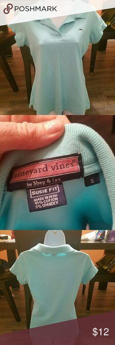 Vineyard Vines Womens small blue Susie fit top by Vineyard Vines. Excellent xondition Vineyard Vines Tops Tees - Short Sleeve