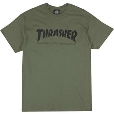 Thrasher Skate-Mag T-Shirt ($34) ❤ liked on Polyvore featuring tops, t-shirts and shirts