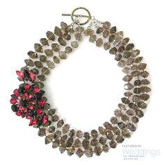 Vintage Necklace, Brooch & Earrings Set ~ Elva Fields