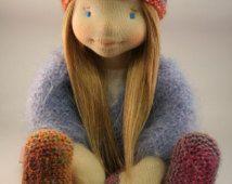 Sue 17 pouces inspiration waldorf, poupée, poupée steiner, poupée de chiffon, poupée waldorf