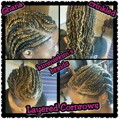 Layered cornrows