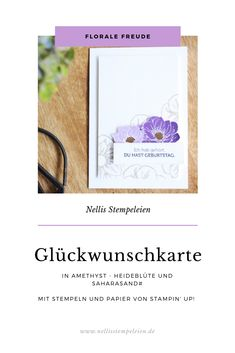 Schnelle Glückwunschkarte mit dem Stempelset Florale Freude und Geburtstagsmix von Stampin' Up! Poppies, Stampin Up, Card Ideas, Place Cards, Stationery, Presents, Place Card Holders, Floral, Cards