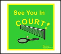 See You In Court Tea Towels