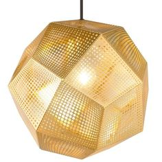 Tom Dixon Etch hanglamp messing | FLINDERS verzendt gratis