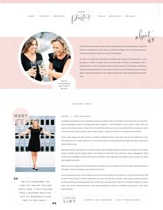 About Page Design - Brand and Website Design :: Pop Parties - Saffron Avenue : Saffron Avenue