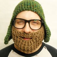 Crochet Beard Face Warmer Brown/Blonde from With Love From Lucille