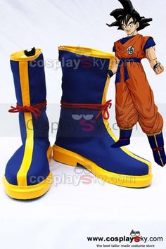 Super Dragon Ball Goku Super Saiyan Deus Botas Azuis shoes Cosplay bootes
