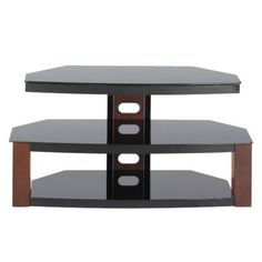 3-in-1 Jaguar Flat Panel TV Stand with Bracket Mount -  Cherry (Fits TVs up to 55)