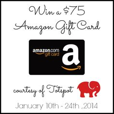 Win a $75 Amazon GC courtesy of Totspot! http://conservamome.com/75-amazon-gift-card-giveaway-ends-124/?utm_source=feedburner&utm_medium=email&utm_campaign=Feed%3A+Conservamom+%28ConservaMom%29
