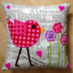 A gorgeous handmade cushion.