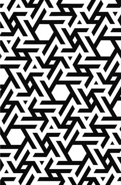 Geometry Pattern_Star_Design_Black & White