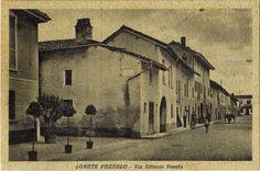 """Lonate Pozzolo - Via Vittorio Veneto - Anni '30 - """"E' vietato spandere acqua"""""""