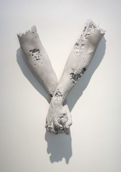 "Isolated Human Gestures by Daniel Arsham From the exhibition ""Fictional Archeology"" at Galerie Perrotin Hong Kong , 2015"