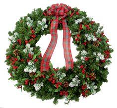 Giant PVC Christmas Wreath designed by Karen B., A.C. Moore Erie, PA #christmas #wreath