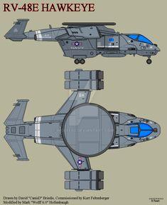 The RV-48E Hawkeye is a USN / USCMC two seat trans-atmospheric, STOVL EW / ECM Aircraft .