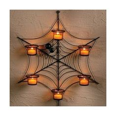 Spider Web & candles