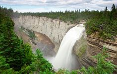 Known primarily as a paradise for white-tailed deer hunting, Anticosti Island is also a land of great ecological wealth and breathtaking natural beauty. Some 222 km long, 45 km wide, Tourist Sites, Quebec City, Picnic Area, Plan Your Trip, Where To Go, Adventure Time, Nature, Places To Go, Waterfall