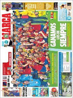 Los Titulares y Portadas de Noticias Destacadas Españolas del 19 de Junio de 2013 del Diario Deportivo Marca ¿Que le parecio esta Portada de este Diario Español?