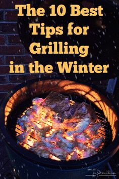 The 10 Best Tips for Grilling in the Winter and a chance to win an New Grill Mitt Set and a 1 Years supply of Kraft BBQ Sauce!