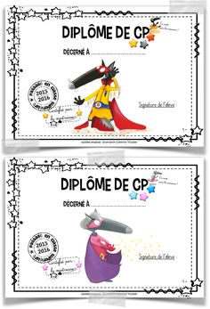 Diplômes de fin d'année scolaire School Teacher, Primary School, French Alphabet, Grande Section, French Resources, French Immersion, End Of Year, Teacher Resources, Homeschool