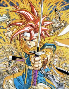 Chrono Trigger original artwork (Super Famicom, 1995).