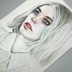 Fantastic piece by artist Tomasz Mrozkiewicz @tomaszmroart  Medium: watercolor & pen