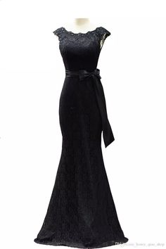 2017 Black Formal Maid Of Honor Dresses Scoop Cap Sleeves New Mermaid Prom Dresses Bow Sash Lace Long Bridesmaid Dresses Black Formal Maid Of Honor Dresses Mermaid Prom Dresses Long Bridesmaid Dresses Online with $99.68/Piece on Honey_qiao_shop's Store | DHgate.com