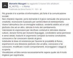 Dalla Fan Page di Facebook https://www.facebook.com/MarcelloMaugeriCommunication