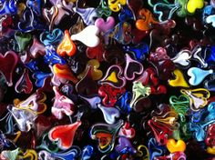 Collage - many #hearts - close-up