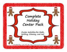 Complete collection of holiday centers for literacy, math, writing and more