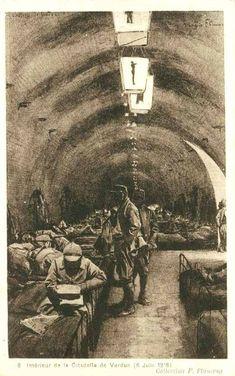 6 juin 1916 intérieur de la citadelle de Verdun World War One, First World, Bataille De Verdun, Goodbye To All That, London Bombings, Us History, Vietnam War, Dieselpunk, Wwi
