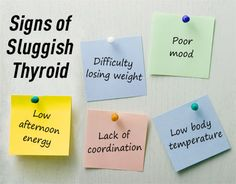 Pay attention to signs of sluggish thyroid. #thyroid